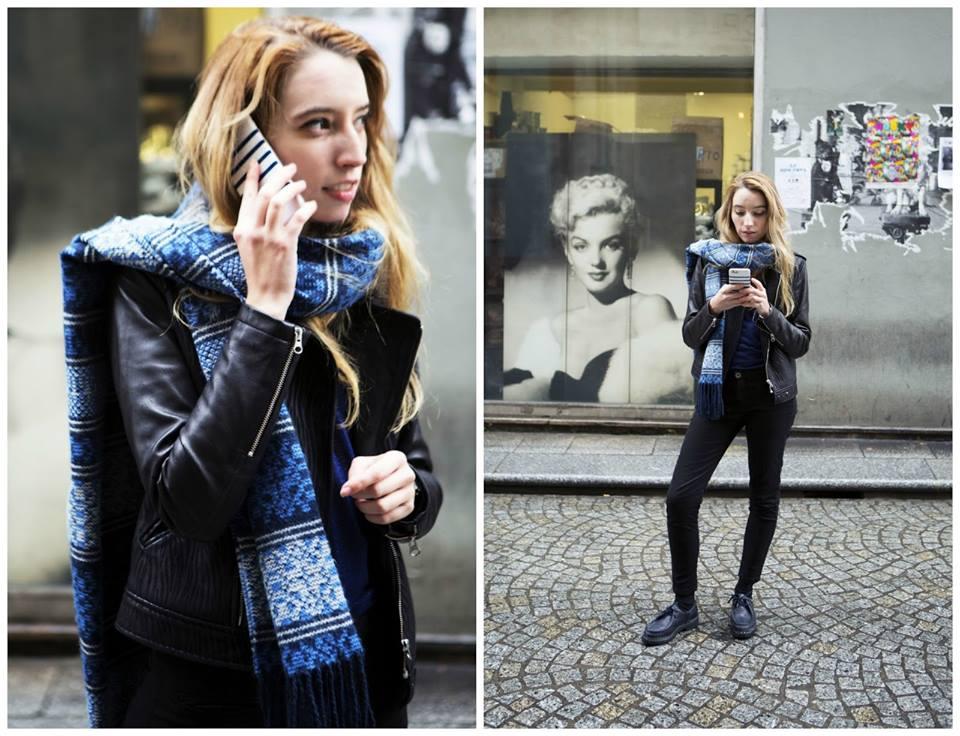Aujourd'hui, un look working girl façon « street » avec notre modèle Serena noir par la jolie Cuillère à absinthe.