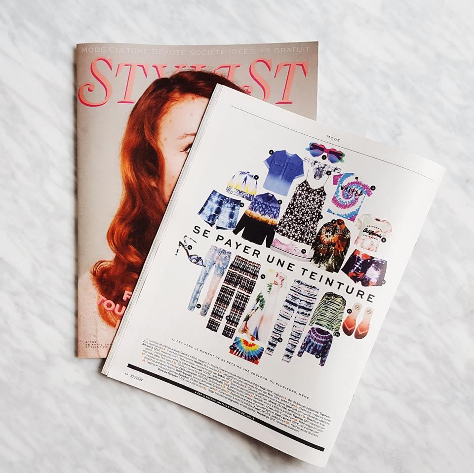 Notre short en denim BIRGITT tie & dye fait partie de la sélection mode du dernier Stylist France